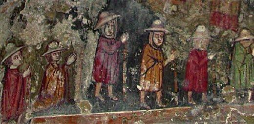 via francigena capranica sutri pellegrini