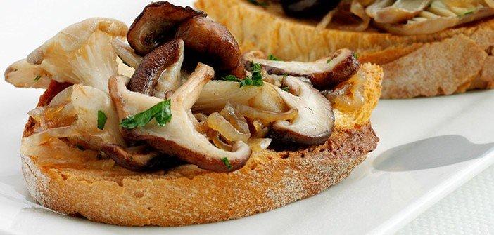 sagra del fungo porcino a oriolo: bruschetta