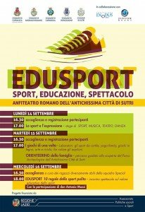 Edusport a Sutri: locandina